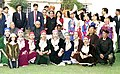 The Prime Minister Shri Atal Bihari Vajpayee met the folk dancers from various parts of the country who are here in the capital for the Republic Day celebration in New Delhi on January 27, 2004.jpg