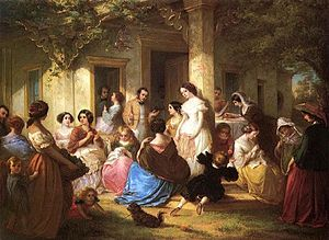Louis Lang - Image: The Sewing Party by Louis Lang (1814 1893)