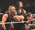 The Shield at the post-WrestleMania Raw in 2014.jpg