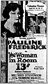 The Woman in Room 13 - 1920 - newspaper ad.jpg