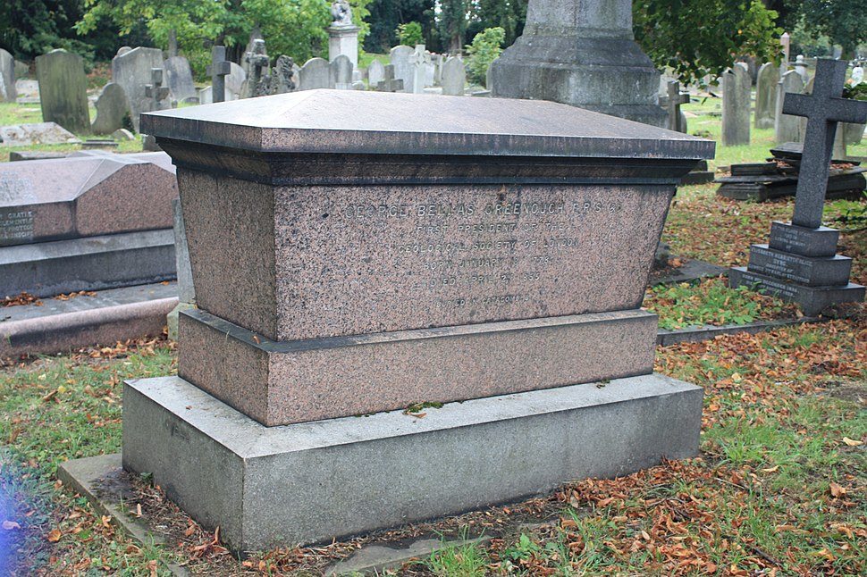 The grave of George Bellas Greenough, Kensal Green Cemetery