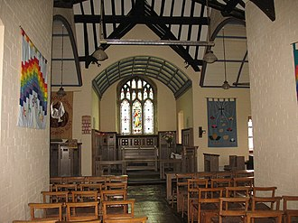 St Gallgo's Church, Llanallgo - The interior, looking towards the east end