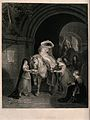 The semi-naked Lady Godiva sitting on a horse having slipper Wellcome V0040010.jpg