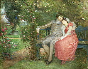 Theodore Blake Wirgman - Gather Ye Rosebuds While Ye May (1905) by Wirgman