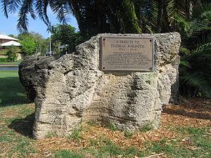 Thomas Barbour - Thomas Barbour Memorial in Ballard Park, Melbourne, Florida