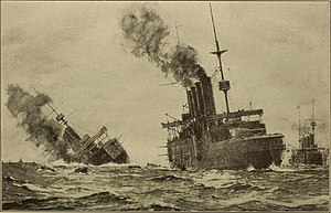 Thrilling stories of the Great War on land and sea, in the air, under the water (1915) (14761576186)- Aboukir sinking.jpg