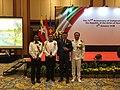 Tirta BambangWirawan and Defencé Attasche representative countries attending Myanmar National Day.jpg