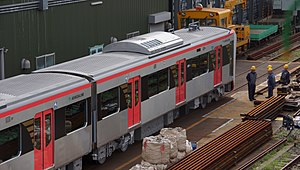 Toei 5500 series - The first cars of set 5501 delivered in September 2017