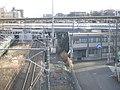 Tokaido-Shinkansen Shin-Yokohama railway track maintenancea yard office 01.jpg