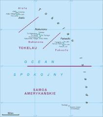 Mapa Tokelau