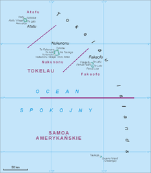 Tokelau Wikipedia - Tokelau map