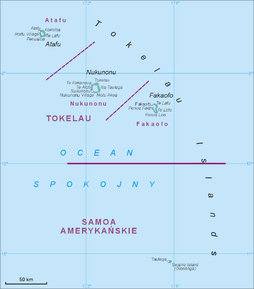 Kart over Tokelau