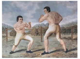 Tom Johnson (bareknuckle boxer) - Tom Johnson fighting Isaac Perrins at Banbury in 1789
