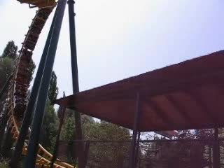 A ride of the Tomahawk, a french rollercoaster in Walibi with sound