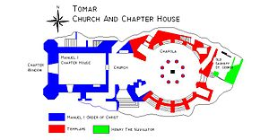 History of the Order of Christ - Floor Plan of the Church, Chapter House and Charola