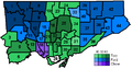 Toronto mayoral election results by ward 2014.png