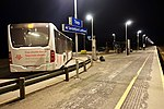Torp train station, NSB shuttle bus to Sandefjord Lufthavn airport. Platform, night, etc. 2019-03-20 B.jpg