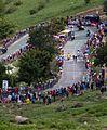 Tour de France 2011, alpedhuez, de gendt en velits in bocht (14847010266).jpg