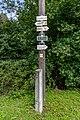 Tourist sign in Kychová (Huslenky), Vsetín District, Zlín Region, Czech Republic 20.jpg