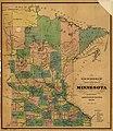 Township and railroad map of Minnesota published for the Legislative Manual, 1874. LOC 98688501.jpg
