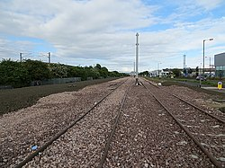 Tram track, Edinburgh Park (geograph 3514664).jpg