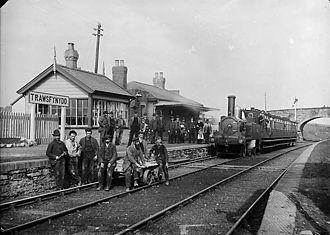 Trawsfynydd railway station - Trawsfynydd railway station in the 1880s