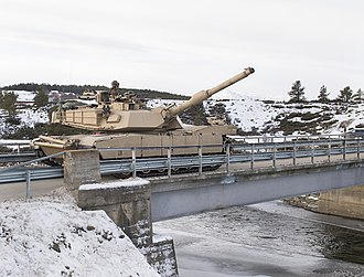 2nd Tank Battalion - U.S. Marines with 2nd Tank Battalion, 2nd Marine Division, advance on their eastern objective defended by opposing Spanish forces during Exercise Trident Juncture 18 near Folldal, Norway on Nov. 3, 2018. Trident Juncture 18 enhances the U.S. and NATO Allies' and partners' abilities to work together collectively to conduct military operations under challenging conditions.