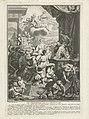 Triomf van de schilderkunst Le triomphe de la peinture (titel op object) Titelpagina voor Plinius, Histoire de la peinture ancienne , 1725, RP-P-1938-851.jpg