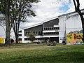 Trompetista, Edificio de Arquitectura, Universidad Nacional.JPG