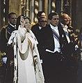Troonswisseling 30 april tijdens eedsaflegging in de Nieuwe Kerk close, Bestanddeelnr 253-8414.jpg