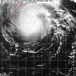 Climate of West Bengal - Image: Tropicalcyclone 07B 1998
