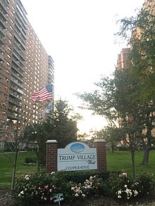 Trump Village in Brooklyn, built by Fred Trump in 1963–1964.
