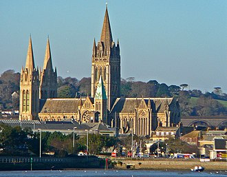 Truro Cathedral - The Cathedral across the Truro River