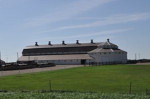 National Register of Historic Places listings in Turner County, South Dakota - Image: Turner County SD Bones Hereford Ranch Sale Barn
