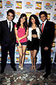 Tusshar Kapoor, Neha Sharma, Sarah Jane Dias, Riteish Deshmukh at the Promotion of 'Kyaa Super Kool Hain Hum' 03.jpg
