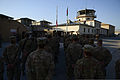 U.S. Airmen assigned to the 455th Air Expeditionary Wing stand in formation during a ceremony at Bagram Airfield in Parwan province, Afghanistan, Sept 140911-F-PB969-011.jpg