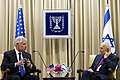 U.S. Defense Chuck Hagel, left, meets with Israeli President Shimon Peres in Jerusalem May 16, 2014 140516-D-BW835-341a.jpg