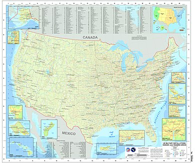 Army Bases In Usa Map - Maps of World