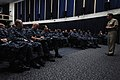 U.S. Navy Pacific Fleet Master Chief Marco Ramirez speaks with the Sailors July 31, 2013, during an all hands call at Naval Air Station Whidbey Island, Wash 130731-N-DX364-030.jpg