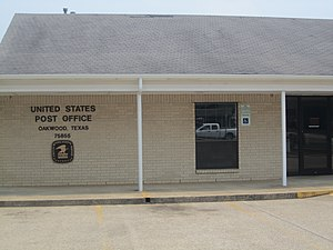 Oakwood, Texas - U.S. Post Office in Oakwood