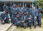 U.S. Sailors embarked aboard the amphibious assault ship USS Iwo Jima (LHD-7) pose for a group photo after repairing a school in Limon, Costa Rica, Aug. 23, 2010, during Continuing Promise 2010 100823-M-PC721-077.jpg