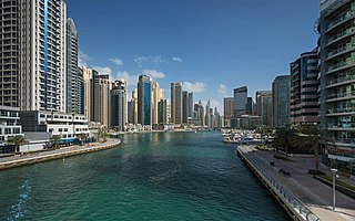 Dubai Marina Community in Dubai, United Arab Emirates