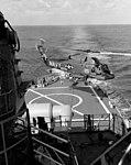UH-2A Seasprite of HU-1 takes off from USS Columbus (CG-12) on 6 January 1965.jpg