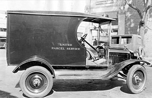 United Parcel Service - Ford Model T UPS delivery vehicle in 1921