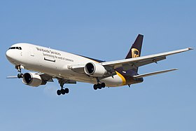 UPS Airlines B767-300F (N328UP) landing at San Jose International Airport.jpg
