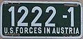 US-Forces-in-Austria USFA 1954-1955 license plate 1222-1.jpg