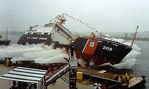USCGC Sycamore (WLB-209) - USCGC Sycamore being launched in July 2001.