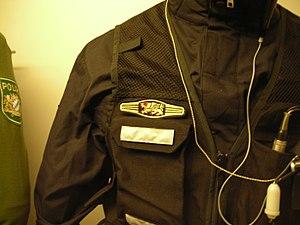 Arrest unit - Uniform of member of an arrest unit of the Bavarian Police.