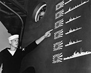 USS Boise (CL-47) Battle of Cape Esperance scoreboard, in November 1942 (80-G-36299)