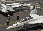 USS Carl Vinson conducts flight operations. (34168269770).jpg